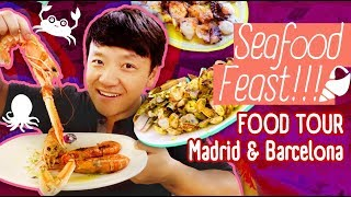 Video FRESH SEAFOOD FEAST! Food Tour Madrid & Barcelona MP3, 3GP, MP4, WEBM, AVI, FLV Juni 2019