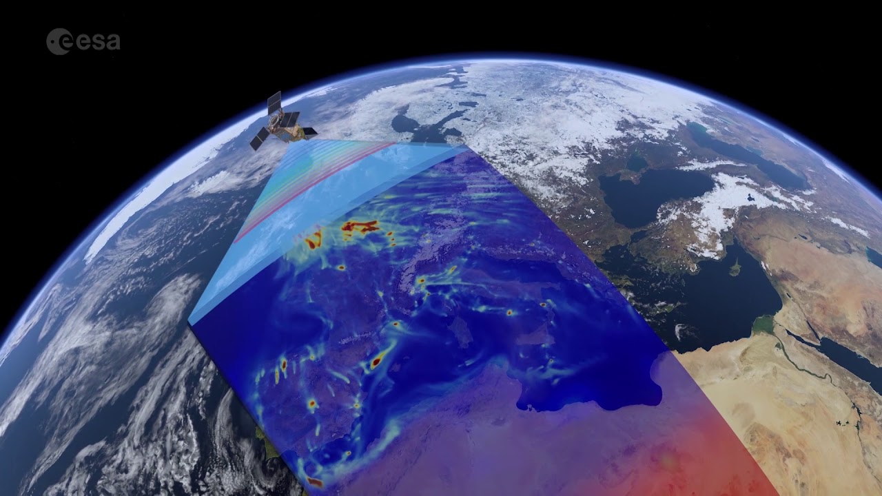 The first images from Sentinel-5P