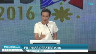 Poe's debate closing statement: Electricity, jobs, end of corruption