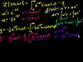 Laplace Transform 3 (L{sin(at)}) Video Tutorial