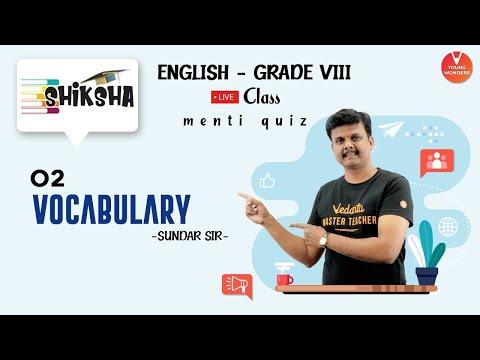 Vocabulary L2 | English Vocabulary Class 8 | NCERT class 8 | Class 8 English | Young Wonders | Menti