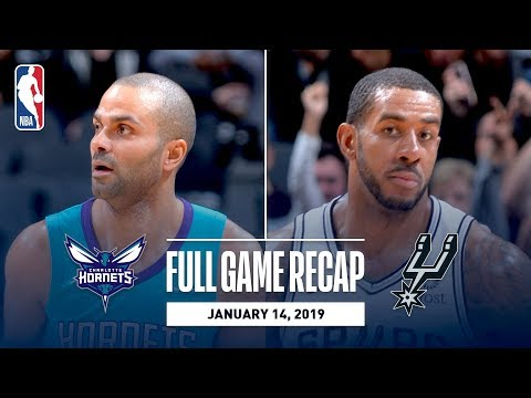 Video: Full Game Recap: Hornets vs Spurs | Tony Parker Returns to San Antonio For The First Time