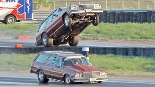 Nitrous Wagon SLAMS Track - GIANT Wheelie! by 1320Video