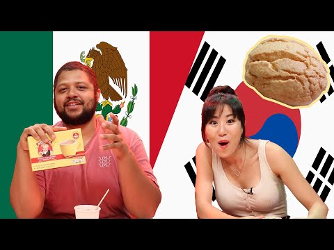 Korean and Mexican People Swap Snacks