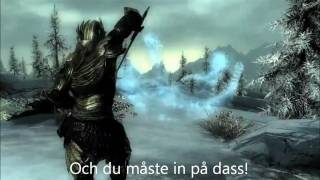 Video The Elder Scrolls V SKYRIM - ''Trailer Song'' w/ SWEDISH LYRICS! :D MP3, 3GP, MP4, WEBM, AVI, FLV Desember 2017