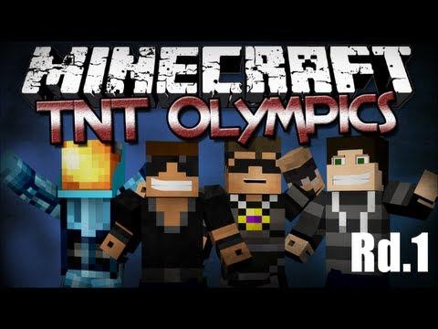 Minecraft TNT Olympics (Rd.1) Ft. SkyDoesMinecraft, MinecraftUniverse & BurtGasm
