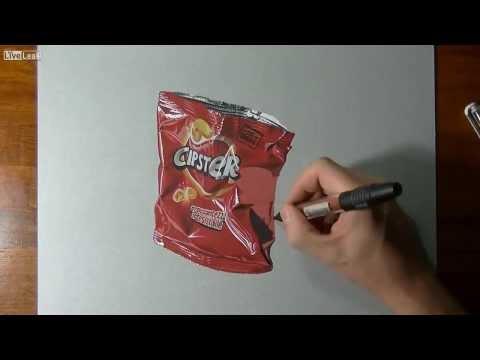 [Video] Sửng sốt với tài năng vẽ gói bim bim siêu thực