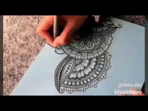 رسم نقوش الماندالا | mandala art