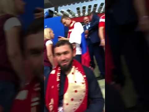 Алексей Дюмин и Рамзан Кадыров вместе болели за сборную РФ (видео)