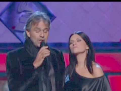 Laura Pausini y Andrea Bocelli...