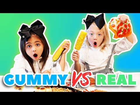Video ULTIMATE GUMMY VS. REAL FOOD CHALLENGE! download in MP3, 3GP, MP4, WEBM, AVI, FLV January 2017