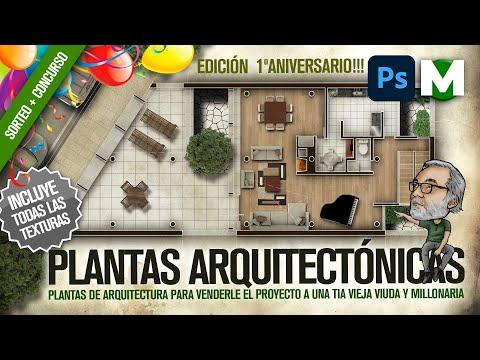 🔥🔥🔥 PLANTA ArquitectOnica PHOTOSHOP | TUTORIAL PASO A PASO | ARQUITECTURA ambientada y humanizada