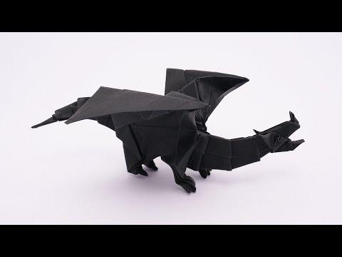 In This Video Tutorial Jo Nakashima Jonakashima Demonstrates How To Make Origami Devil Dragon V2