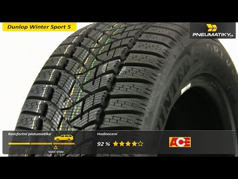 Youtube Dunlop Winter Sport 5 225/45 R18 95 V XL MFS Zimní