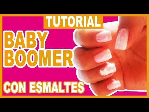 Uñas decoradas - Cómo hacer BABY BOOMER en uñas fácil y rápido