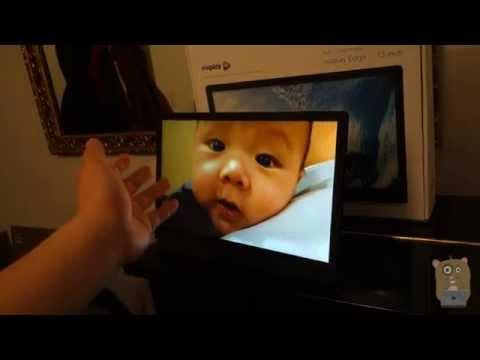 nixplay edge 13 inch review wifi cloud photo frame youtube