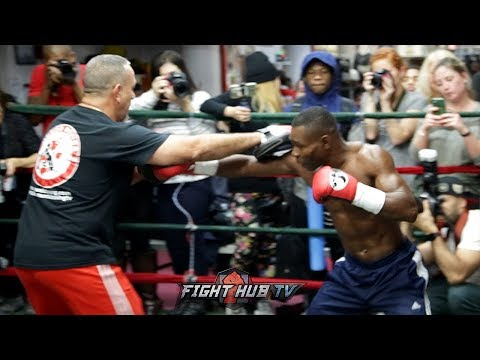 GUILLERMO RIGONDEAUX'S FULL WORKOUT FOR VASYL LOMACHENKO - LOMA VS. RIGO VIDEO
