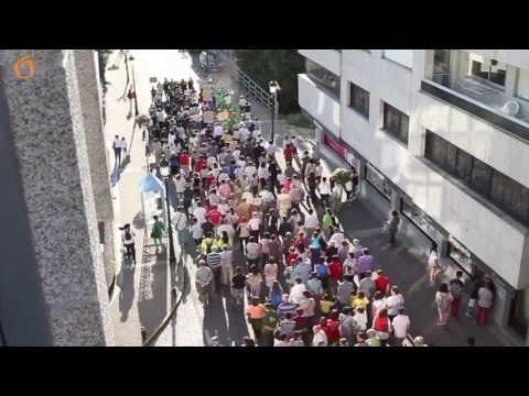 Manifestación dos afectados polas preferentes.