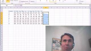 Mr Excel&excelisfun Trick 21: Excel 2010 Sparklines (Amazing Cell Charts!!)