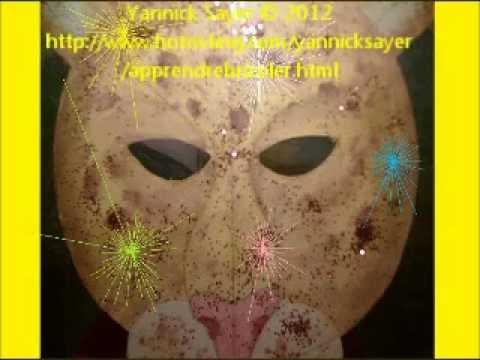 Masque de léopard à fabriquer pour carnaval avec des paillettes