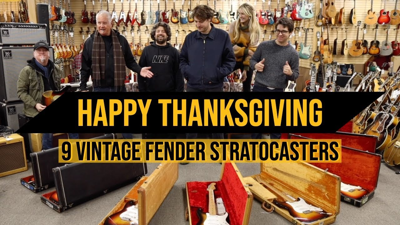 Thankful for 9 Original Fender Stratocasters on Thanksgiving at Norman's Rare Guitars