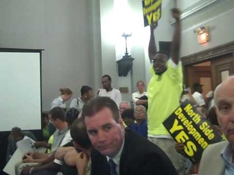 KMOX - Protest at Paul McKee TIF Hearing