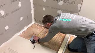 Easily Install GoBoard Point Drain Shower System