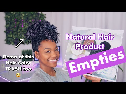 Hair color - Natural Hair Product Empties Feb '19 + Spray on Color Demo