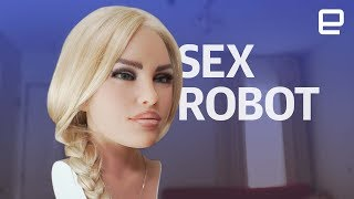 Video Sex Robot hands-on at CES 2018 MP3, 3GP, MP4, WEBM, AVI, FLV Juli 2018