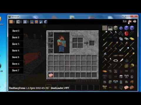 MINECRAFT MODS HINZUFÜGEN - ToManyItems(to many items) - Tutorial - HD - 2012 1.2.5