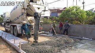 Video Amazing Modern Technology Techniques - Road Construction Machine Concrete Mixer Trucks MP3, 3GP, MP4, WEBM, AVI, FLV November 2018