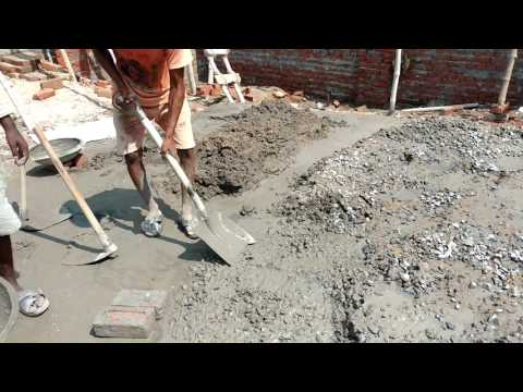 how to mix cement and sand with crushed stone