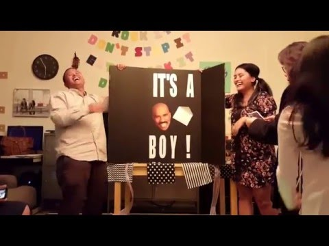 Baby Gender Reveal..Steve Harvey Style