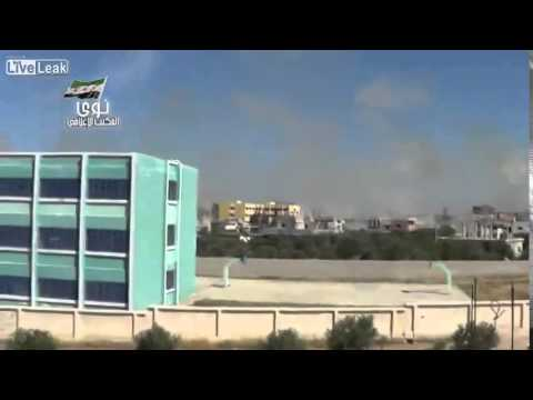 Rockets hit Nawa in Syria 30 seconds!