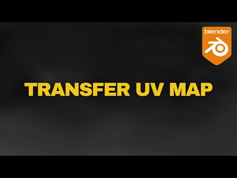 Blender Tips -  Transfer UV Maps