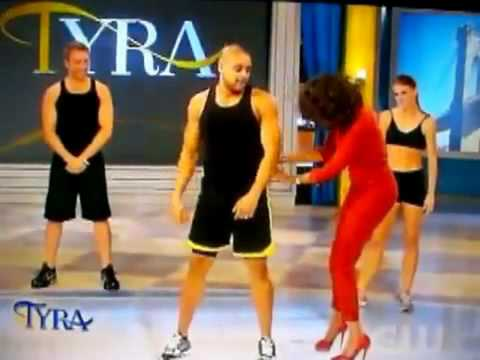 Shaun T with his new Insanity workout on the Tyra Banks show.flv