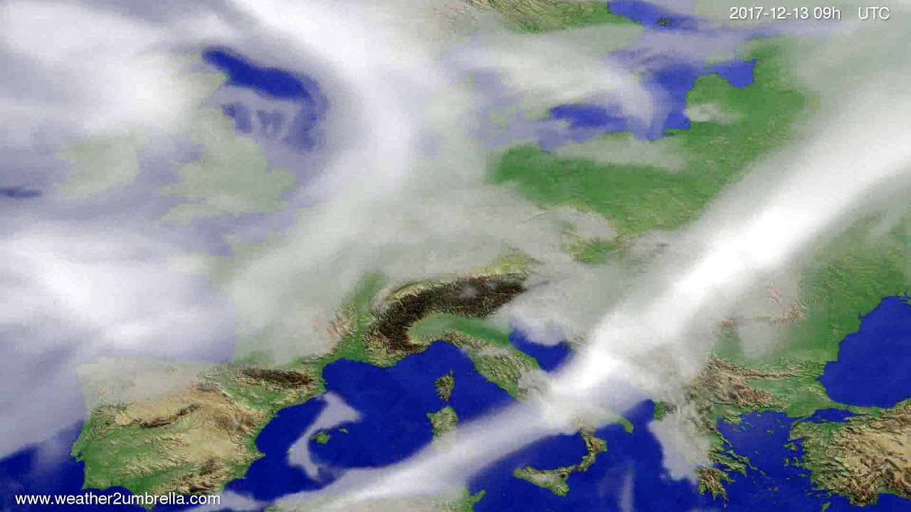 Cloud forecast Europe 2017-12-09