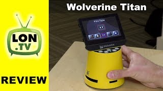 Buy it on Amazon - http://lon.tv/3y4rv (affiliate link) - The Wolverine Titan has the fastest workflow of any photo scanner I have tested. It doesn't even require a PC! But the image quality is subpar. See more photo scanning: http://lon.tv/photoscanning and subscribe! http://lon.tv/sVIDEO INDEX:00:52 - Hardware overview and price01:08 - Supported film formats01:41 - Ports and connectors02:06 - Memory card limitations02:29 - Loading and scanning film03:30 - Selecting film type03:41 - 8mm movie scanning04:15 - Cleaning brush04:29 - Super fast workflow05:10 - Adjusting image brightness and color06:10 - Scanning color film06:51 - Image quality of scans09:42 - Conclusion and final thoughtsI was excited to try this device out - especially given how arduous the process of archiving old photos from negatives can be. I have tried flatbed scanner trays and negative scanners hooked up to my PC and have never been pleased with the workflow. The scanners themselves are very slow and the software tools aren't much faster.What I like about the Wolverine is that it's as simple as placing a negative in the tray, positioning it in realtime on the display and pushing a button. The photo is scanned to the SD card. Simple as that. It's even possible to slide the negatives through the tray while it's in the device to quickly bring in a strip of photos. From a workflow perspective I loved it.The problem comes when the images are brought over to your PC or tablet device. The image quality is lackluster at best. I've found that the color scans have a bias towards green, so I had to make adjustments in software after the fact to get a better balance of color. It's possible to do that on the device itself but it requires bouncing back and forth inside the interface making fine tuning adjustments difficult.The on board display does not do a very good job of accurately representing the image either. Images that looked nicely exposed and well balanced in their color ended up being either too da