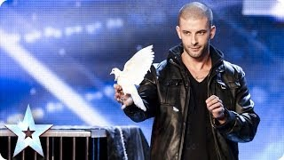 See more from Britain's Got Talent at http://itv.com/talent Not only can illusionist Darcy make doves appear out of nowhere, he also ...
