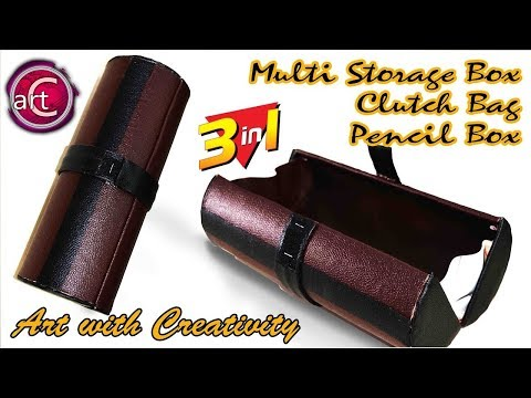 Multistorage Box / Cluthch Bag /Pencil Box | tape roll | Best out of Waste | Art with Creativity 159