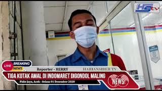 TIGA KOTAK AMAL DI INDOMARET DIGONDOL MALING