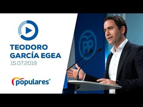"""García Egea: """"La posición del PP no ha cambiado: n..."""