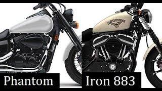10. Honda Shadow Phantom vs Harley Davidson Iron 883 Comparison Review