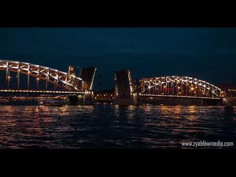 The timelapse of the white night in Saint Petersburg 2018 - Zyablowmedia