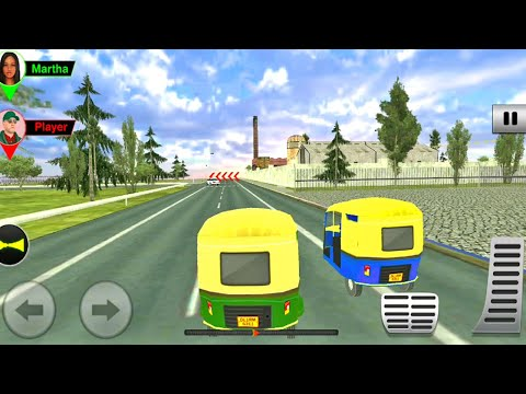 Auto Rickshaw Multiplayer Race Comeptition Driving | Modern Rickshaw Taxi Game | Android Gameplay #6