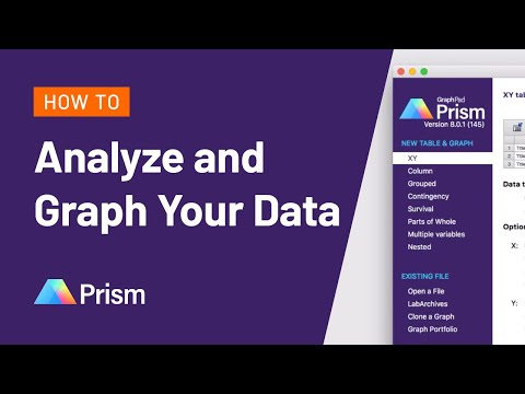 How To Analyze and Graph Your Data in Prism 8