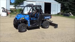 8. 2016 Polaris Ranger 900 XP Electric 3 Point Hitch Install and Test