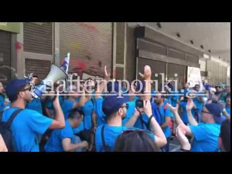 Διαμαρτυρία  εργαζομένων των Λιπασμάτων Νέας Καρβάλης