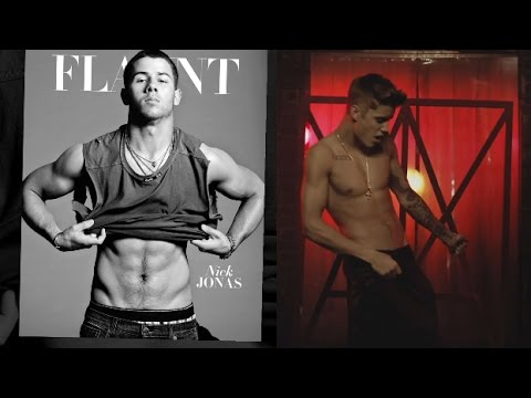 jonas - Justin Bieber Vs. Nick Jonas: SHIRTLESS SHOWDOWN! Subscribe to Hollywire | http://bit.ly/Sub2HotMinute Send Chelsea a Tweet! | http://bit.ly/TweetChelsea Follow Hollywire! | http://bit.ly/TweetHoll...
