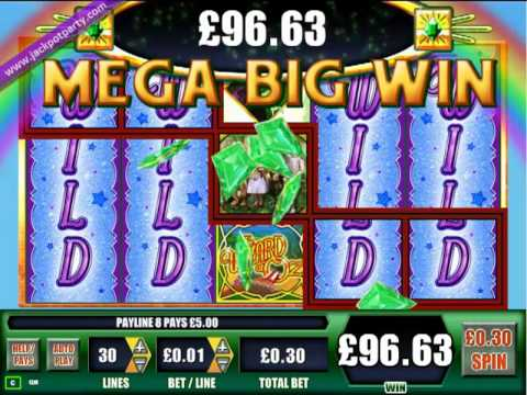 £168.50 MEGA BIG WIN (562 X STAKE) WIZARD OF OZ™ – JACKPOT PARTY 100% SLOT BONUS